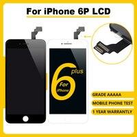 Grau aaaa + + + display lcd para iphone 6plus assembly montagem digitador da tela de toque. Nenhum pixel morto + vidro temperado + ferramentas + estojo tpu