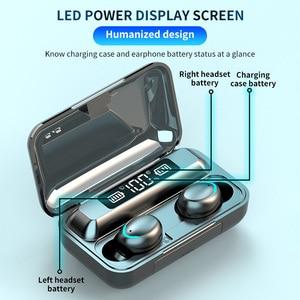 Image 5 - חדש F9 אלחוטי אוזניות TWS Bluetooth 5.0 אוזניות 8D HIFI סטריאו עמיד למים אוזניות אוזניות טעינת תיבת עם מיקרופון