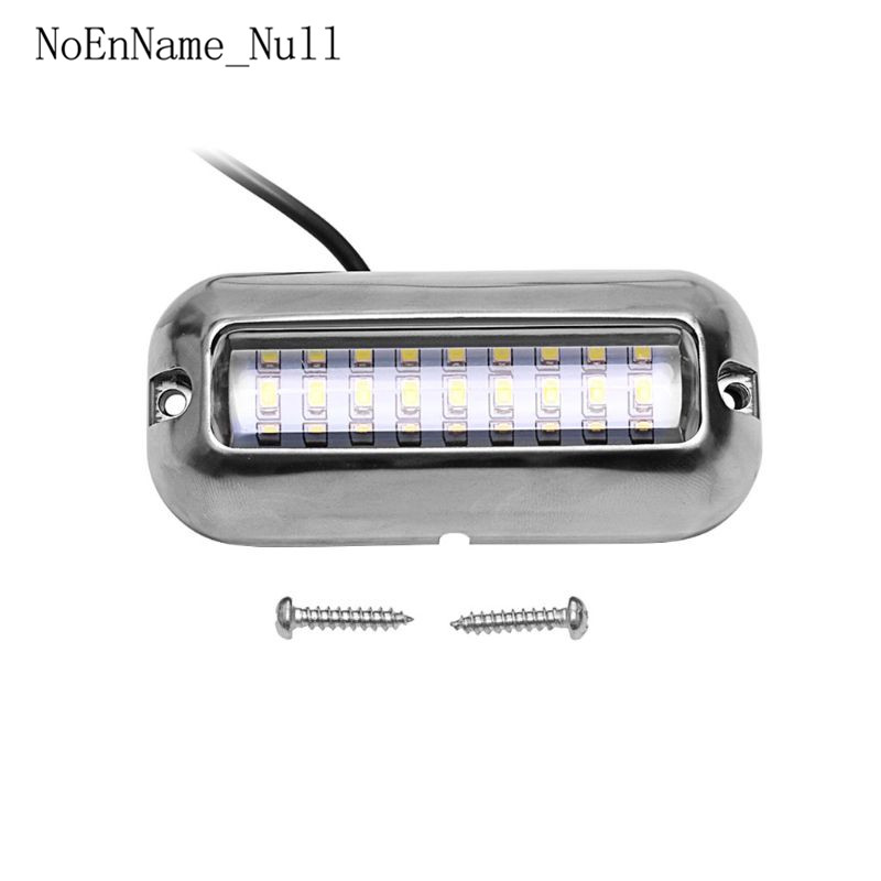 Blue 27 LED Underwater Boat Marine Transom Lights Stainless Steel Pontoon Yacht Stern Fishing Night Light