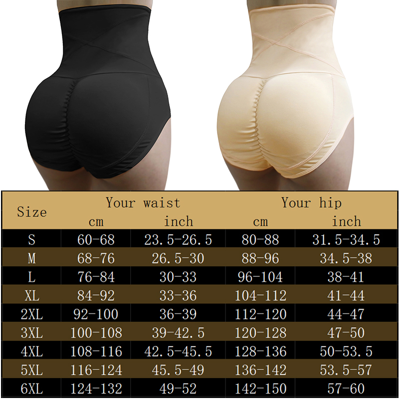 by IVALLEY Womens Underwear Bodyshaper High Waist Butt Shaper Lifter Tummy Control Knickers Panties Black, XXL