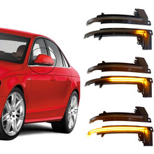2PCS LED Dynamic Blinker Turn Signal Mirror Indicator light For Audi A3 8P A4 A5 B8 Q3 A6 C6 4F S6 S4 S5 A8 D3 8K S8 new arrival 2pcs 22 universal front window windshield wiper blade for audi a4 s4 a6 c6