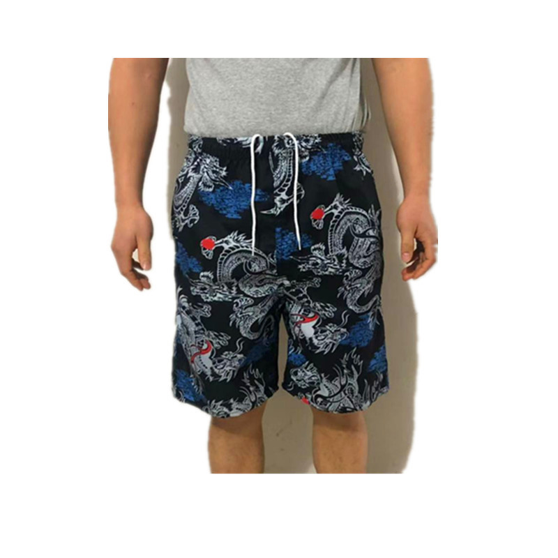 Europe And America Beach Shorts Summer New Style Casual Drifting Quick-Dry Non-Fading Short Swimming Trunks Straight