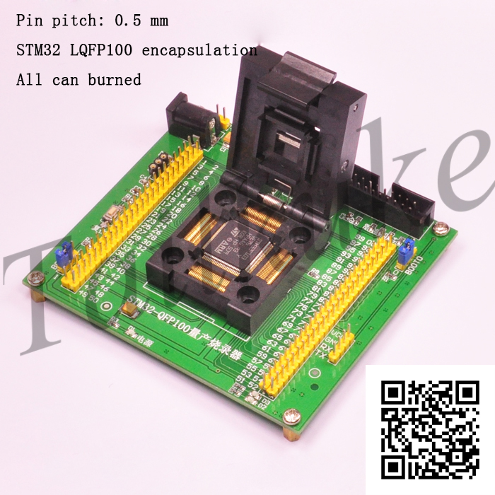 STM32 Burner Mass Production Burning Programming Download Programming Block Burning Block Test Block LQFP100
