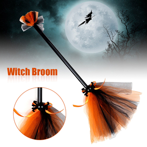 Kids Adults Witch Broom Portab