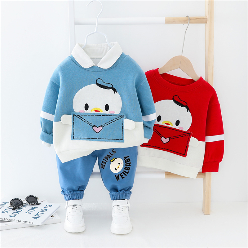 HYLKIDHUOSE 2020 Spring Toddler Baby Girls Boys Clothing Sets Cartoon Long Sleeve T Shirt Pants Outdoor Infant Clothes Suits