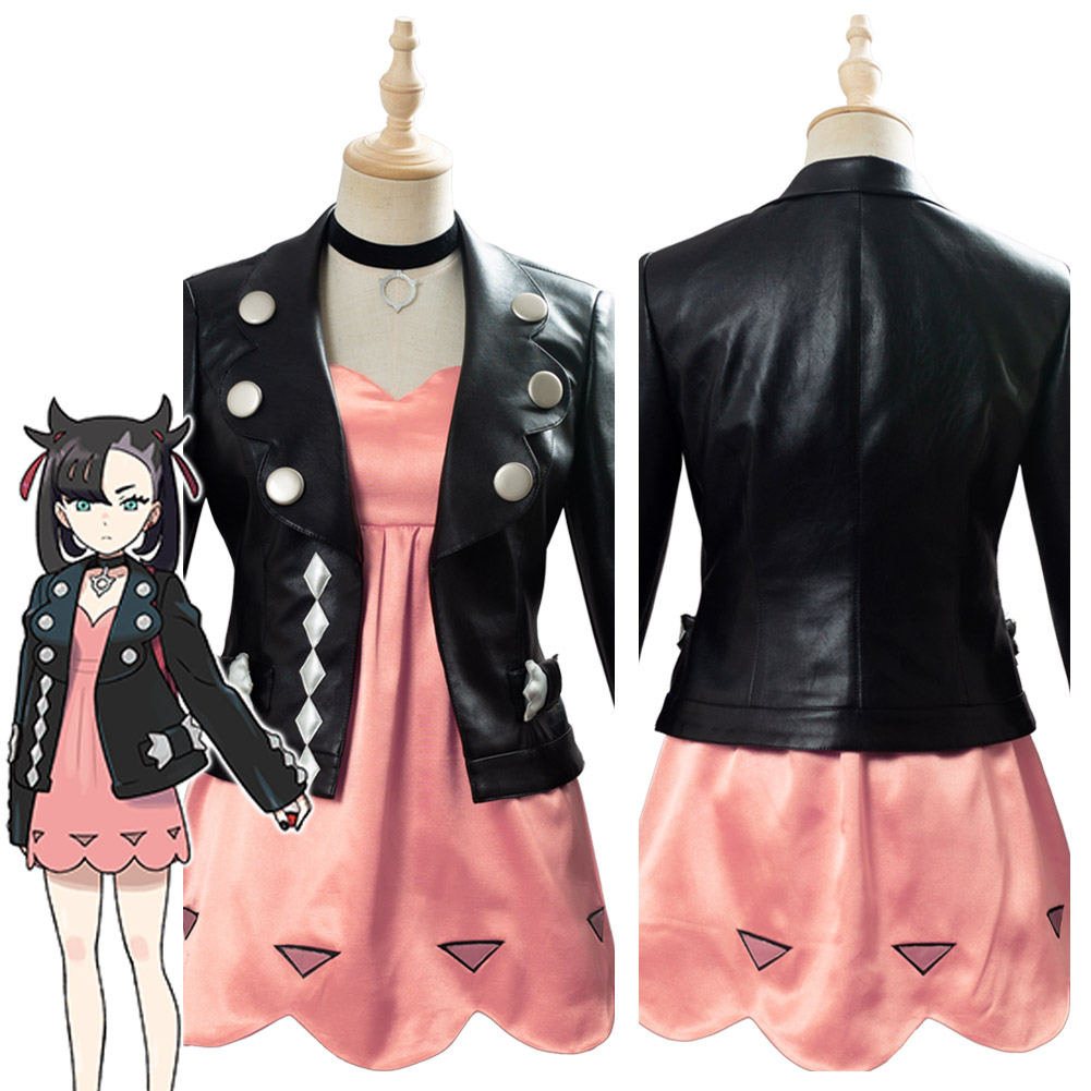 Pokemon Sword/Shield Marnie Cosplay Costume Women Girls Dress