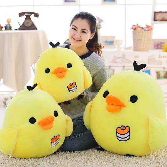Big size Kawaii Rilakkuma Kiiroitori Plush doll Anime cartoon Little yellow chicken Stuffed toys Pillow Beautiful gifts