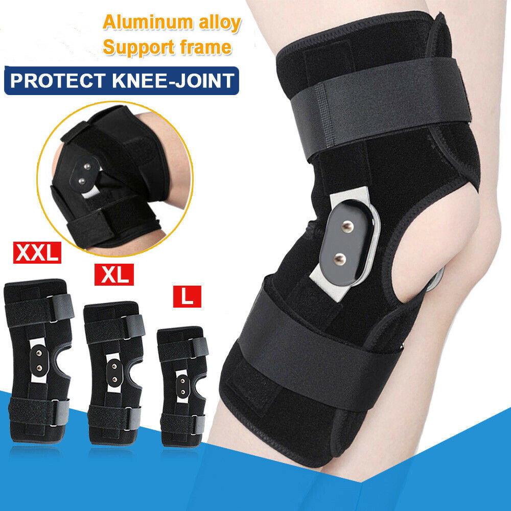 2019 Aluminium Double-Hinged Knee Brace Support Medical Grade Breathable Open Running Basketball Knee Protectors M-2XL