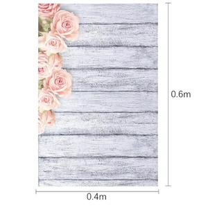 Image 5 - Photo Studio Wood Floor Printing Backdrops Romantic Floral Photography Studio Video Art Cloth Background for Camera Photo