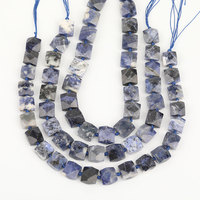 Full Strand Slice Natural Sodalite Cube Beads Bracelet Craft Women,Square Sodalite Slab Bead Earring Women Jewelry EF CT 315AMEE