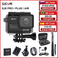 SJCAM-Cámara de acción SJ8 Air & SJ8 Plus y SJ8 Pro, 1290P, 4K, WIFI, Control remoto, impermeable, deportes, DV