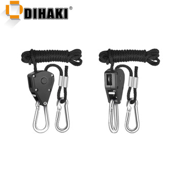 1 Pair Adjustable Pulley Sling Lifting Rope Ratchet Hook Max Load 150lbs/68kg Lifter Hangers Assembly Sling Lifting pulley hooks