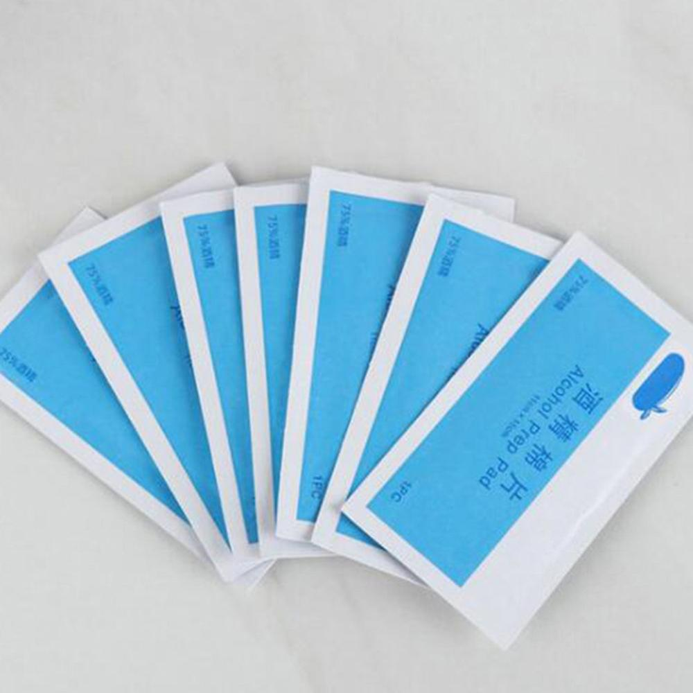 1 Box Disposable Alcohol Swabs Non-Woven 75% Alcohol Nail Cleaner Wipes Disinfection Wet Wipes Phone Glasses