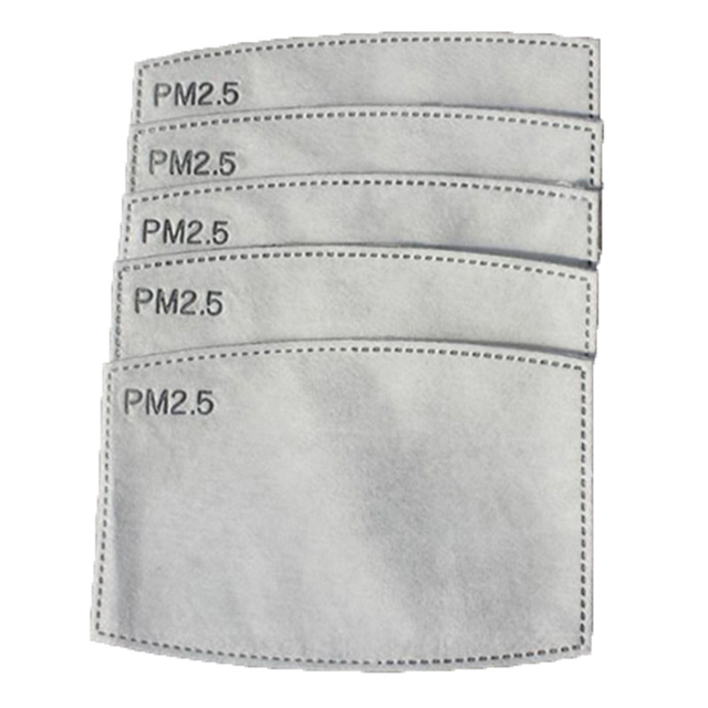 10Pcs/Set PM2.5 Anti Haze Mouth Mask Replaceable Filter-slice 5 Layers Non-woven Child Kids Activated Carbon Filter