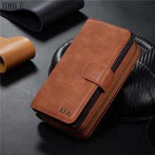 Luxury Multifunction Wallet Leather Case Zipper Phone Cases For Samsung Galaxy Note10 Note10plus Holder Back KS0332
