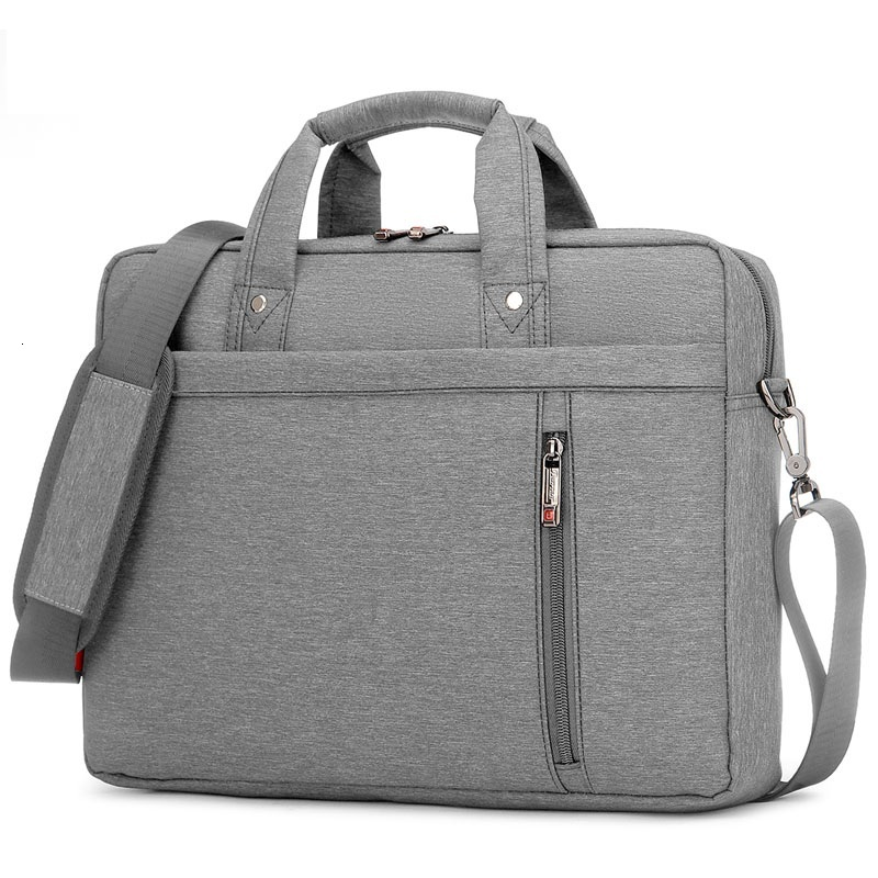Waterproof Office Bag Briefcase Laptop 13 14 15 17inch Macbook Notebook Tablet Gray Black Pink Nylon Business Handbag Men Women