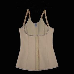 Image 5 - Entrenador de cintura corsé de látex para mujer, chaleco de acero deshuesado debajo del busto, faja para vientre, Corsés, correas, corsé ajustado con correa de modelado