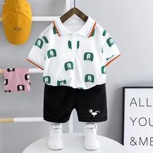 Casual T-Shirt Baby-Boys Summer Toddler HYLKIDHUOSE Clothing-Sets Shorts Children Bear