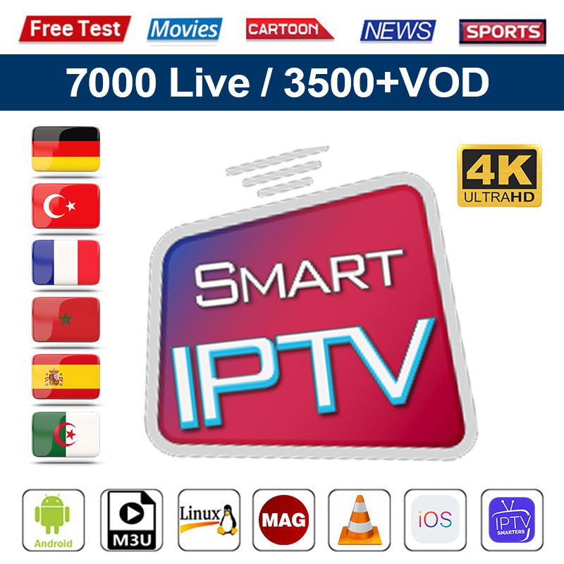 1 Year IPTV Code Spain Germany France Full HD 4K IPTV Subscription Belgium Arabic Italy Smart IPTV Andriod Enigma2 Mag IOS M3u