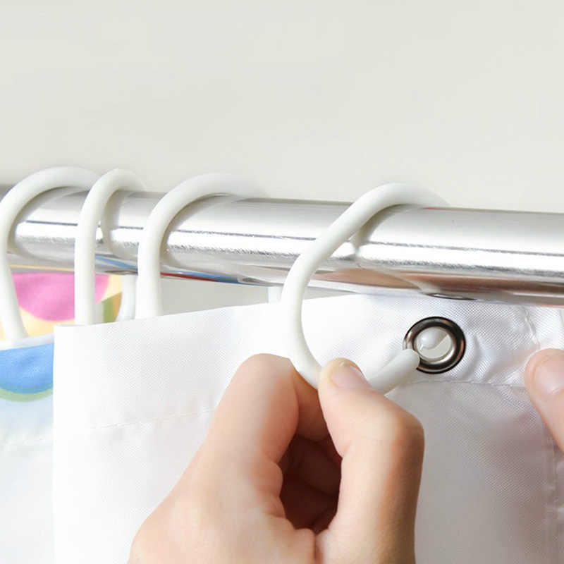 Praktische Douchegordijn Haak Hanger Ring Bad Drape Loop Clip Glide Handige Vervanging Badkamer Accessor C1061 Een