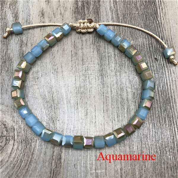 Nowy plac kryształ zroszony kolorowe koraliki bransoletka dla kobiet czeski Preppy styl hurtownie