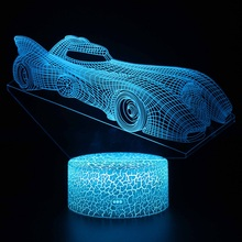 Sports car 3d Led Night LightLed Color Changing Night Light Kids Christmas Lovely gift Love Gifts Girlfriend Cartoon Light