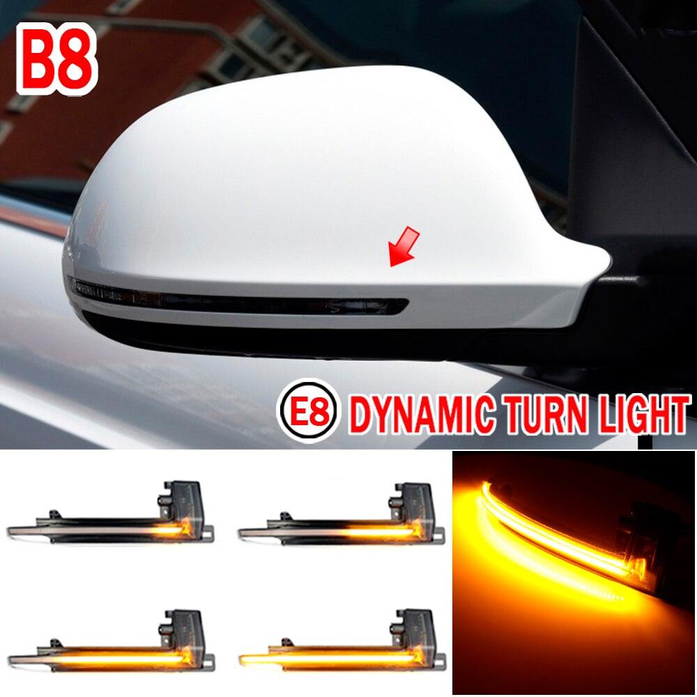 Светодиодный фонарь с зеркасветильник поворота для Audi A3, 8P, B8.5, A4, A5, B8, Q3, A6, C6, 4F, S6, S4, S5, S6, A8, D3, 8K, S8