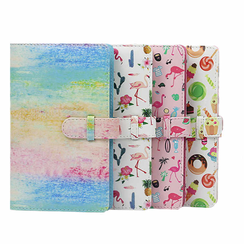 1 Piece 96 Pockets Cactus Flamingo PU Leather Instant Photo Album Picture Case 3 inch Mini Film Photo Album