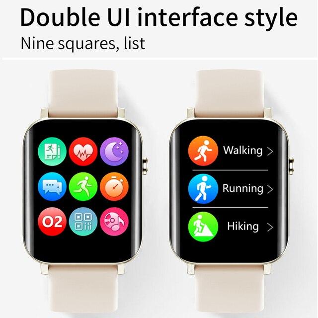 Correr velocidade relógio inteligente 1.7 Polegada hd tela de toque cheio freqüência cardíaca monitor oxigênio no sangue das mulheres dos homens smartwatch para android apple oppo 5