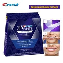 ثلاثية الأبعاد الأبيض الأسنان Whitestrips لوكس تأثير المهنية الأصلي نظافة الفم الأسنان تبييض الأسنان شرائط آمنة صحية هدية