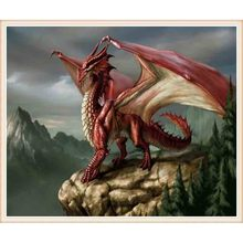 3D Diamond Cross Painting Stitch 5D Embroidery Red Dragon Mosaic Resin Home Decor DIY Art
