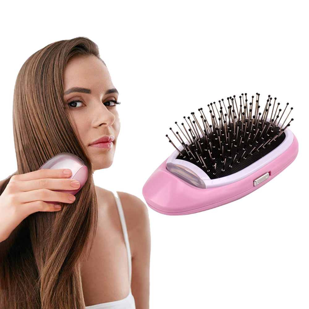 Ionic Hair Brush Portable Electric Magic Negative Ion Hair Comb Anti-static Massage Hairbrush Take Out Frizz Hair Brush