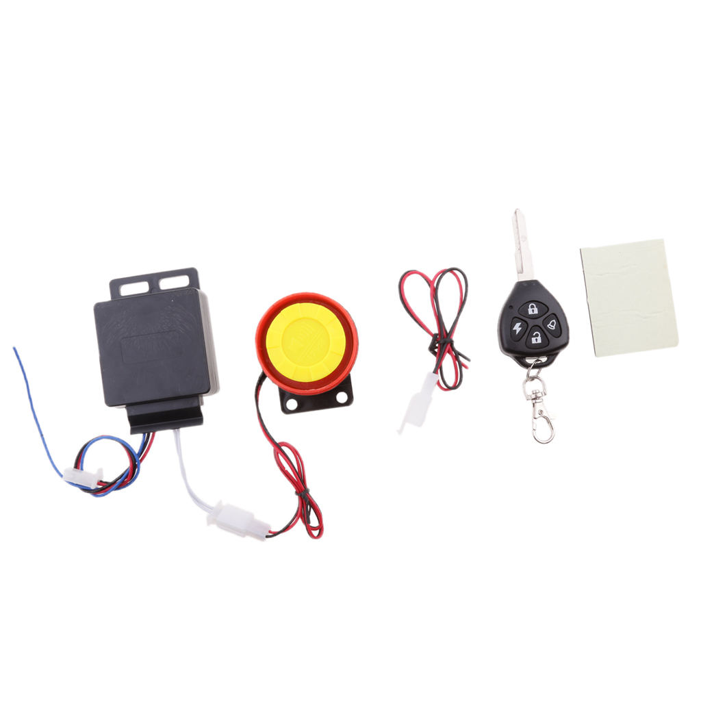 2 Way Universal Motorcycle Alarm Remote Engine Motorbike Start Anti-theft Security System Scooter