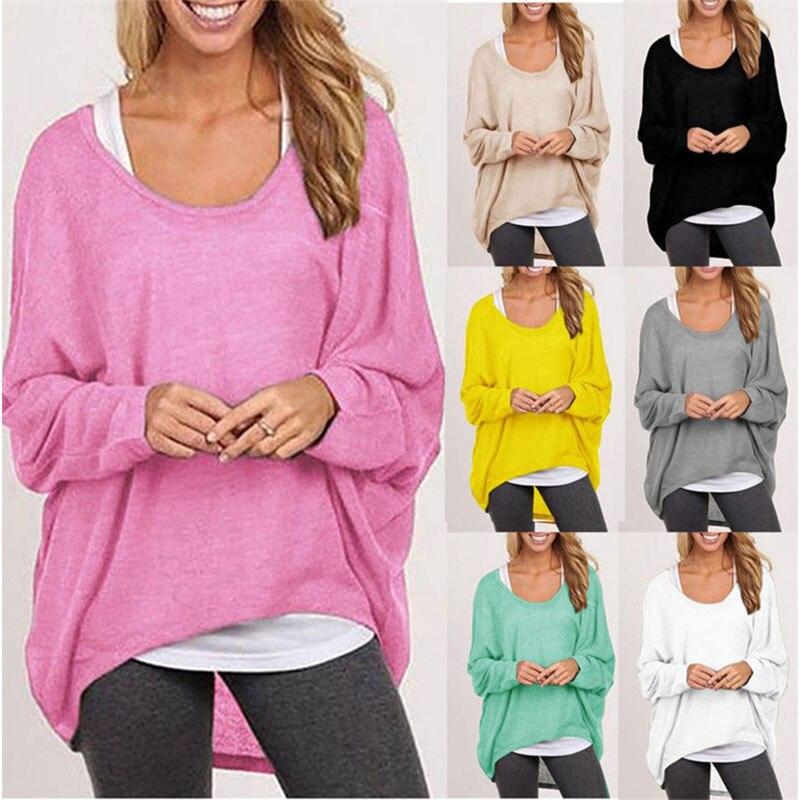 Madam Clothing OWLPRINCESS Women's Fall 2019 Long Sleeves Loose Irregular T-shirts, Knitwear