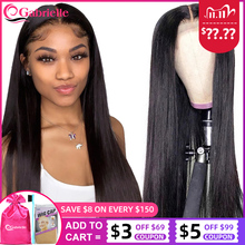 13x4 Lace Front Wigs Pre Plucked 180 250 Density Peruvian Straight human hair 30 inch Lace Closure Wig Remy Hair Gabrielle
