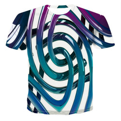 The latest popular men's round geometric shirt is simple in color, T-shirt, vertex 3D, S-6XL, the only printing 2021.