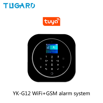 Tuya 433MHz GSM WiFi Wireless Home Security&Burglar Alarm System With PIR Motion Sensor/Door Sensor/Siren Alarm Set smartyiba wifi gsm 2g home security alarm system wireless wired zone motion sensor with wireless strobe siren