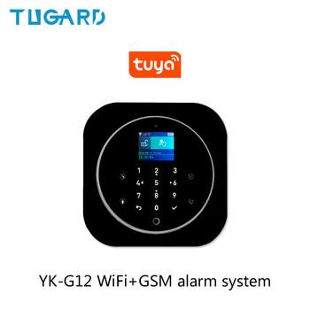 Tuya 433MHz GSM WiFi Wireless Home Security&Burglar Alarm System With PIR Motion Sensor/Door Sensor/Siren Alarm Set