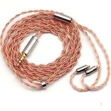 Cable Original FAAEAL Hibiscus cobre de alta pureza 2 pines 0,78mm auriculares reemplazar reparación 3,5mm estéreo/2,5mm/4,4mm Cables equilibrados