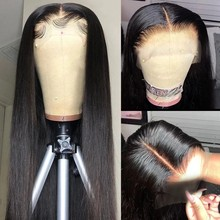 Deep Part 13X6 Lace Front Wig Pre Plucked With Baby Hair Straight Malaysian Remy 4*4 Closure 13x4 Lace Frontal Human Hair Wigs