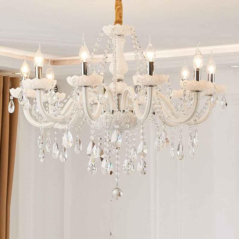 Modern White Crystal Chandelier Lights Lamp Chandeliers For Living Room Bedroom Fixture Crystal Light Lustres De Crista Lighting Aliexpress,Blue Wall Living Room Ideas