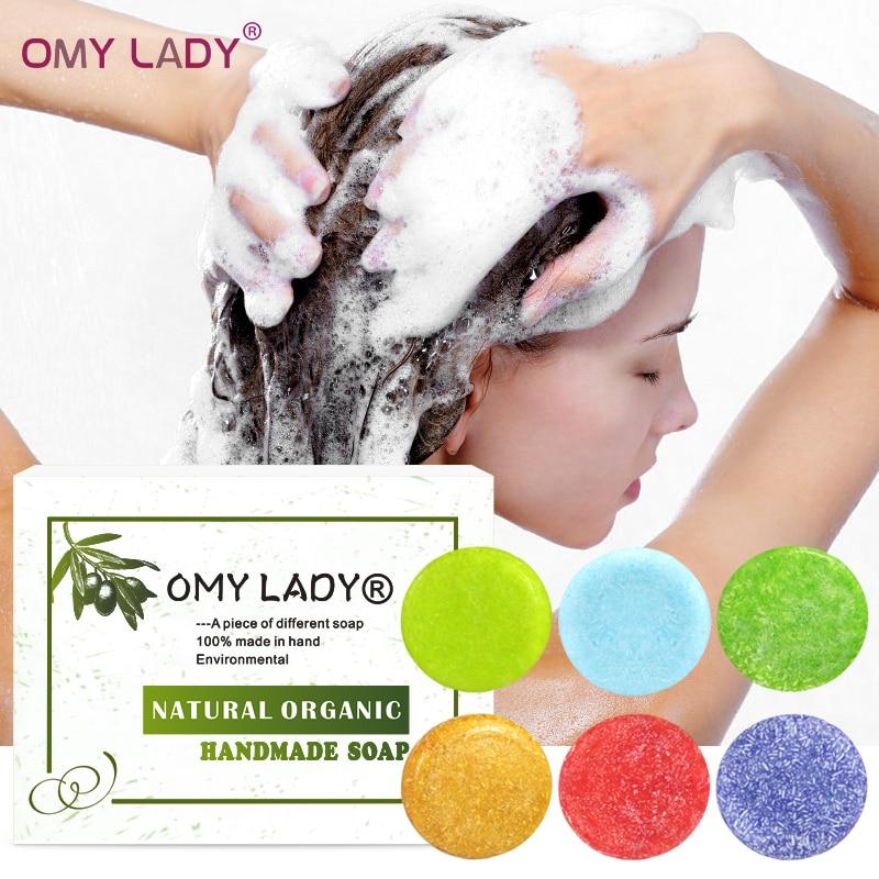 OMY LADY Handmade Shampoo Soap Essential Oil Natural Plants Repair Dry Hair Oil Hair Anti-Dandruff Hair Care Shampoo In Hair 60g