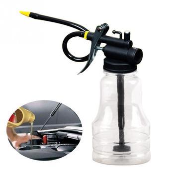 цена на 250cc Transparent High Pressure Pump Oiler Lubrication Oil Can Plastic Machine Oiler Grease 245mm Length Flex Gun