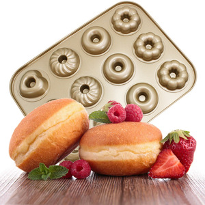Image 2 - Baking Pastry Tool Carbon Steel Donut Mold Doughnut Mold  Baking Pan Baking Tray Chocolate Cake Mold Kitchen Bakeware DIY Tools