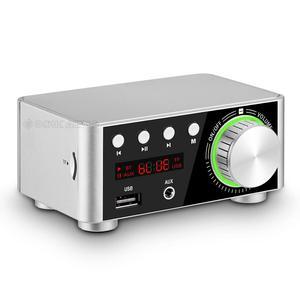 Image 2 - Nobsound Mini Bluetooth 5.0 güç amplifikatörü alıcısı Stereo 2 Ch ev ses araba Amp USB U disk müzik çalar 19V adaptörü
