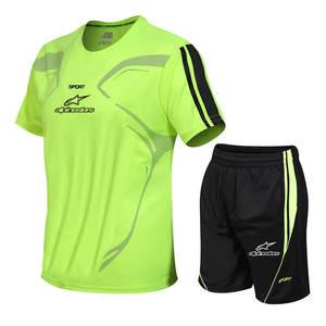 Suit Jersey Sportswear Football-Shorts-Kits-Sets Running Short-Sleeve T-Shirt Men M-5XL