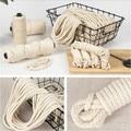 1 мм-10 мм круглый плетеный шнур из натурального хлопка бежевая веревка макраме хлопковый шнур веревка для рукоделия домашние Свадебные аксе...