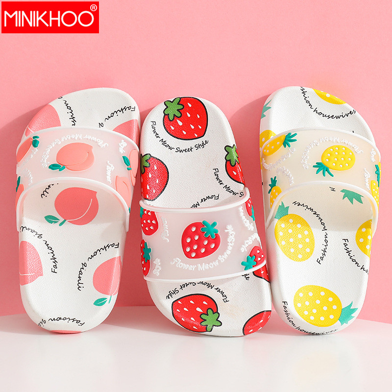 2020 New Children's Slipper Girl Beach Flip Flops Funny Shoes Princess Slippers Kids Cute Summer Shoes Strawberry Fruit Sandals
