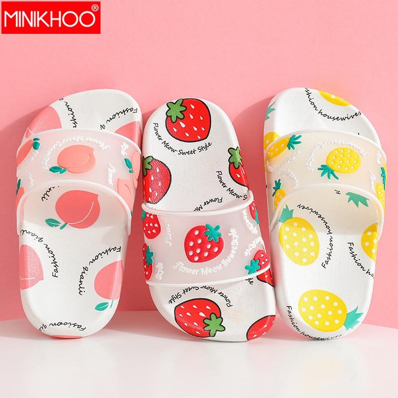 2020 New Children's Slipper Girl Beach Flip Flops Funny Shoes Princess Slippers Kids Cute Summer Shoes Strawberry Fruit Sandals