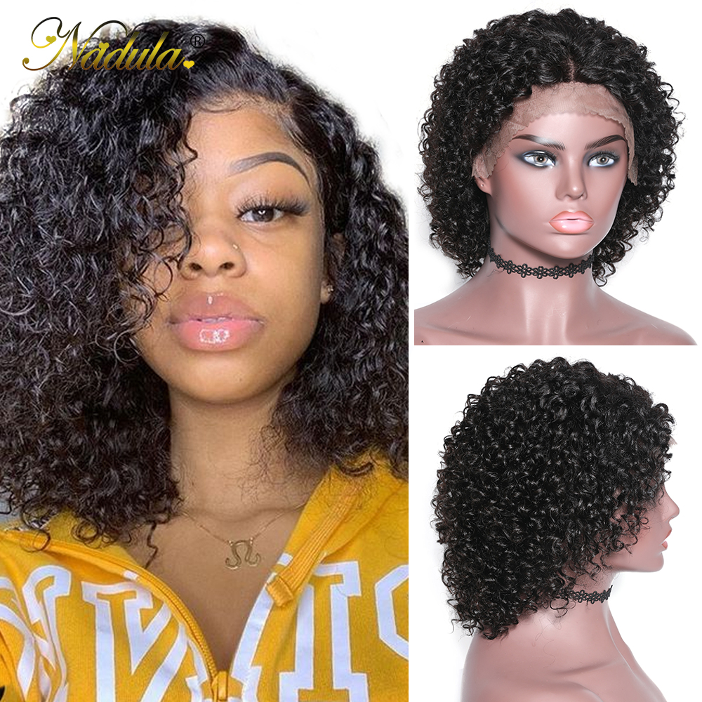 Nadula Wig Short Loose Curly Lace Frontal Wigs For Black Women Brazilian Remy Human Hair Wig Lace Frontal Wig Free Shipping